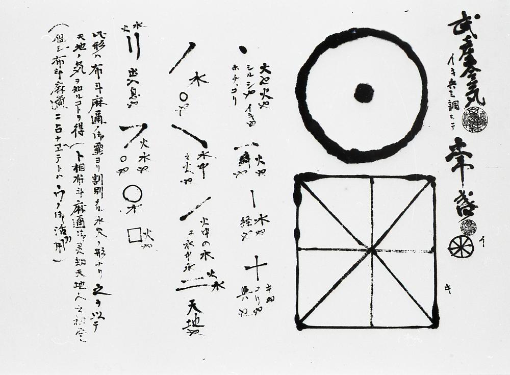 Dessin exécuté par Maître Ueshiba